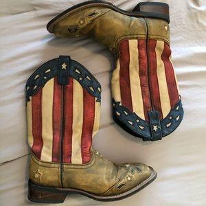 Laredo american flag cowgirl boots